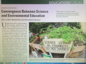 Front page of Science Article