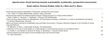 Table of Contents NJAS Special Issue