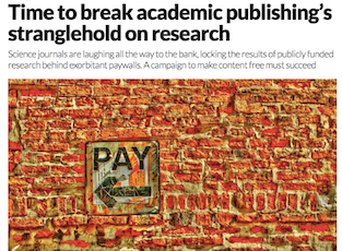 Update – Publish AND perish: how the commodification of scientific